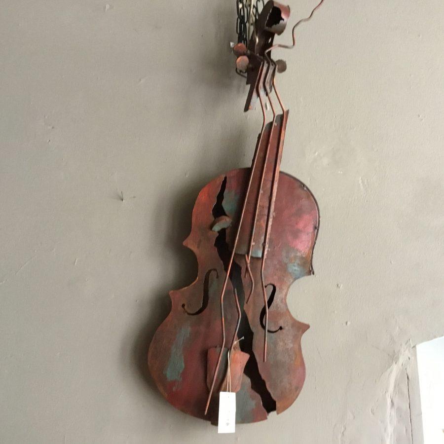 art work viool roestig