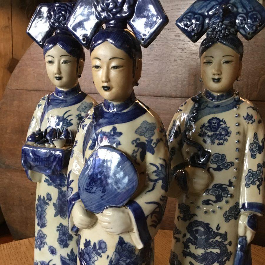 drie Chinese keizerinnen blauw wit