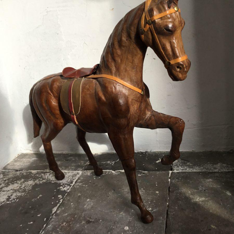 leren paardje bruin vintage
