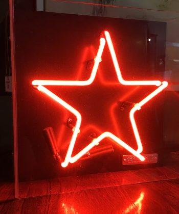 neon ster licht