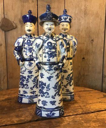 set blauw witte Chinezen