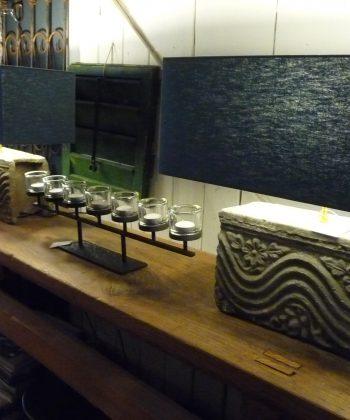 set Chinese baksteen lampen