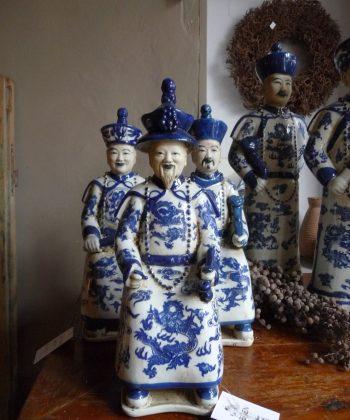 zittende keizers blauw wit chinees