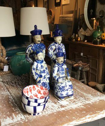 zittende chinese keizers blauw wit