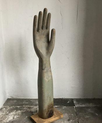 Houten handschoen mal