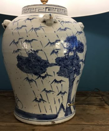 grote chinese pot lamp