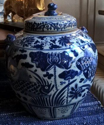 grote chinese pot decoratie vissen