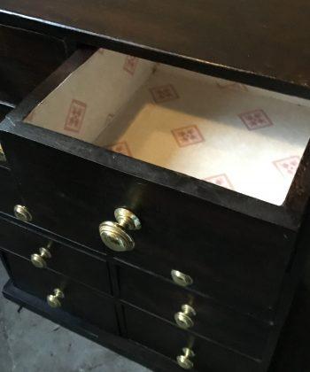 vintage ladekastje banker cabinet